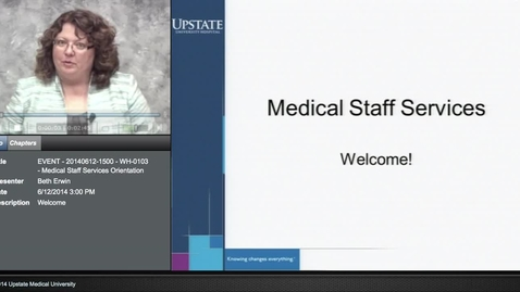Thumbnail for entry Credentialed Provider Orientation - Medical Staff Communication