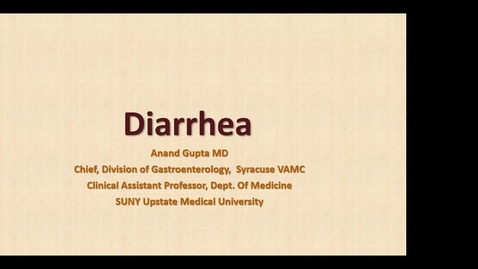 Thumbnail for entry 9/21 Acute and Chronic Diarrhea with Dr. Gupta