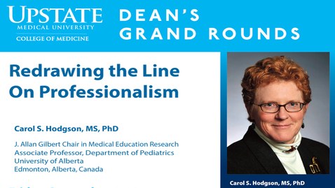 Thumbnail for entry Dean's Grand Rounds-09-08-2017