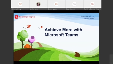Thumbnail for entry MS Teams Demo Upstate IMT