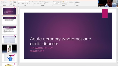 Thumbnail for entry 9/01  Coronary Syndromes and Aortic Dissection by Dr. Kozman