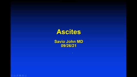 Thumbnail for entry 9/17 Ascites by Dr. John