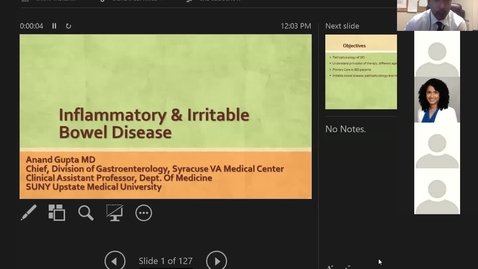 Thumbnail for entry 10/6 Inflammatory and Irritable Bowel Disease by Dr. Gupta