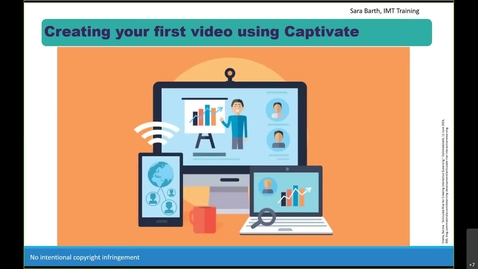 Thumbnail for entry Creating your first video in Captivate-PLD