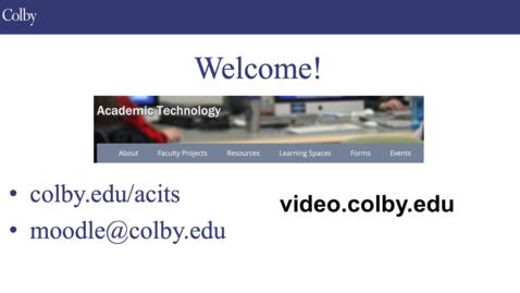 Thumbnail for entry Kaltura Video Moodle Tutorial