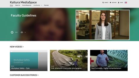 Thumbnail for entry MediaSpace Walkthrough