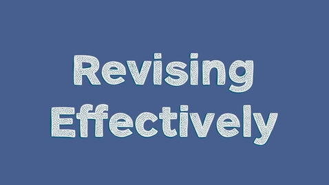 Thumbnail for entry Revising Effectively