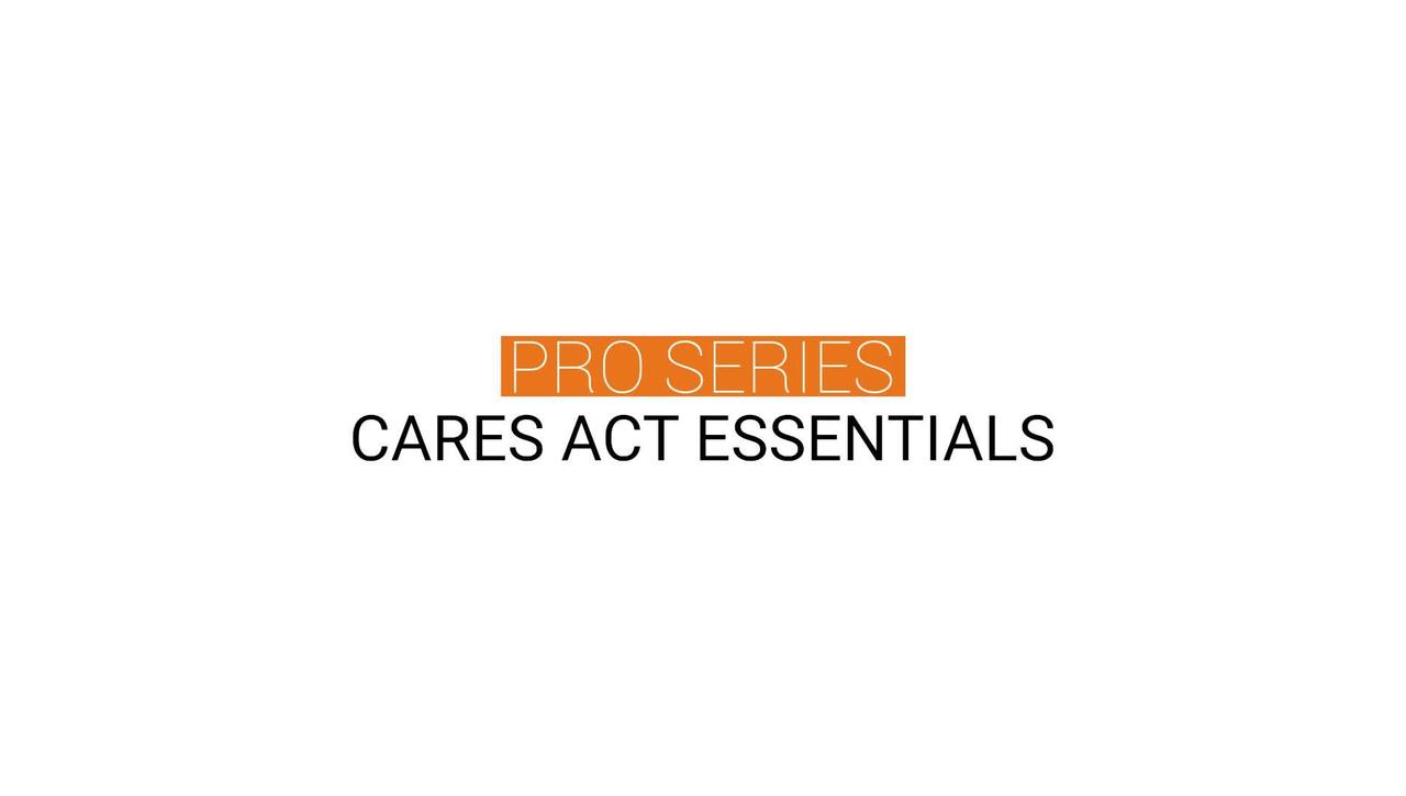CARES Act Essentials