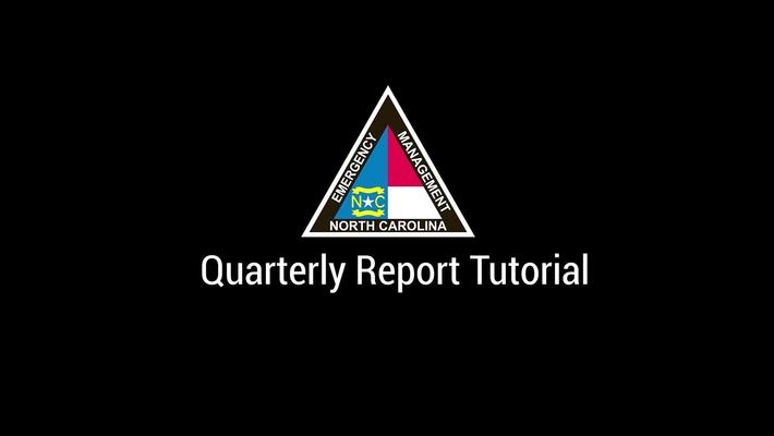 NCEM - Quarterly Report Tutorial