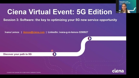 Thumbnail for entry S3P2: Planejamento dinâmico, network slicing e operações Zero Touch para o Sucesso 5G