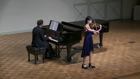 Thumbnail for entry Junior Recital: Alex Campbell, violin & Graduate Ensemble Recital: Miles Hampton, trumpet