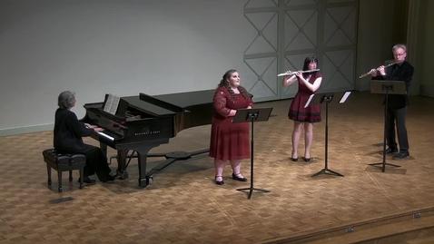 Thumbnail for entry Graduate Ensemble Recital: Anna Neely, soprano