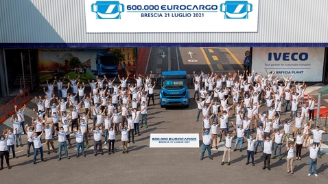 Thumbnail for entry The 600,000th Eurocargo     built at its iconic Brescia plant