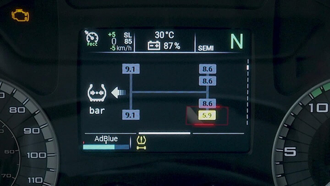 Thumbnail for entry IVECO S-WAY     System TPMS