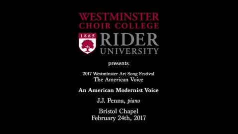 Thumbnail for entry 2017-02-24 Art Song Festival