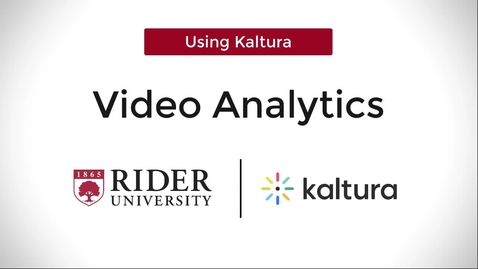 Thumbnail for entry Video Analytics