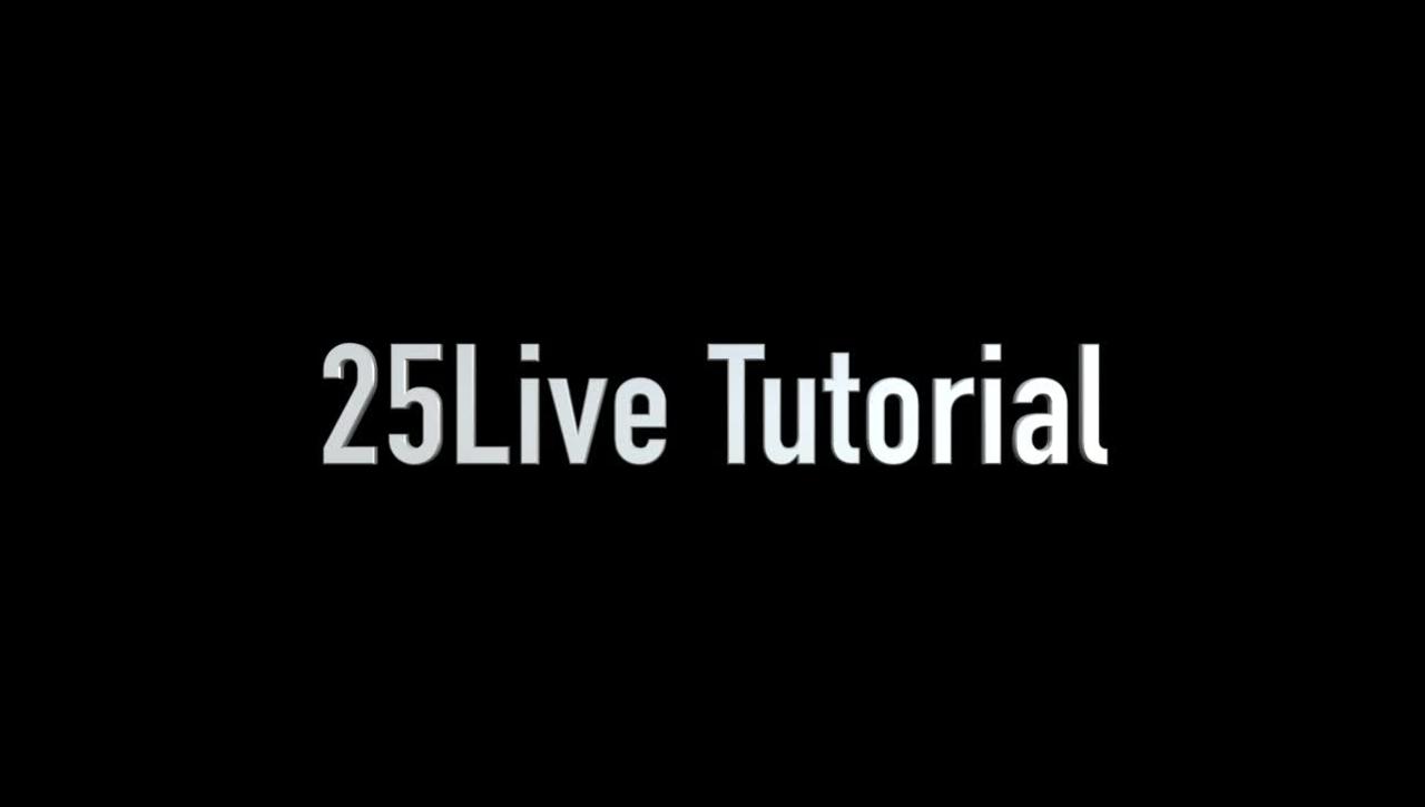 25Live Single Event