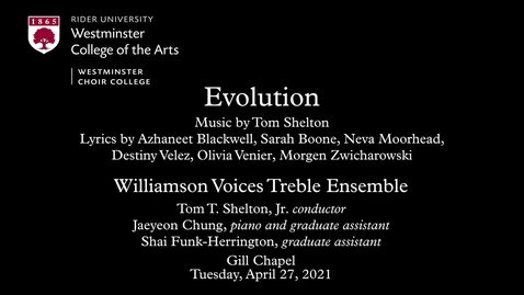 Thumbnail for entry Williamson Voices Treble Ensemble | Evolution