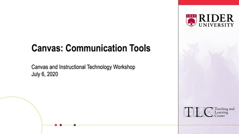 Thumbnail for entry Canvas: Communication Tools