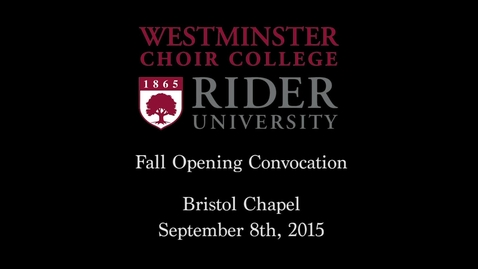 Thumbnail for entry 2015-09-08 Convocation