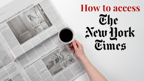 Thumbnail for entry How to access NY Times via Rider University Libraries
