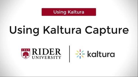 Thumbnail for entry Kaltura Capture: Demonstration with PowerPoint