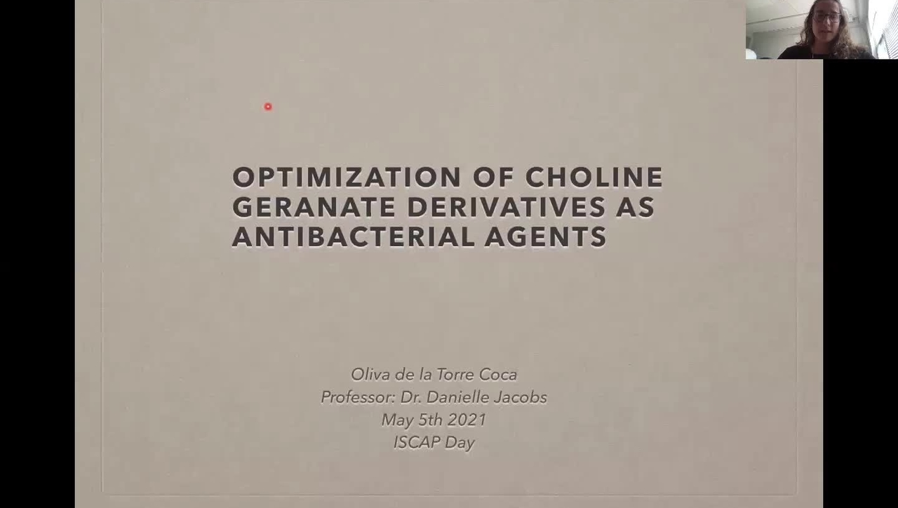 De La Torre Coca: Optimization of Choline Geranate Derivatives as Antibacterial Agents