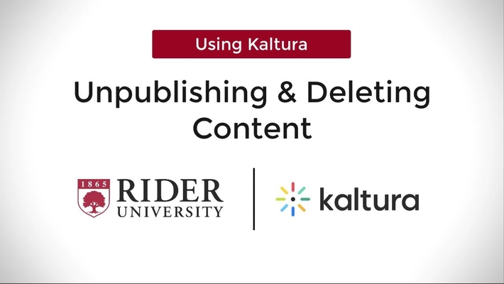 Unpublishing and Deleting Content