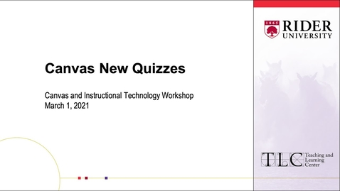 Thumbnail for entry Canvas New Quizzes