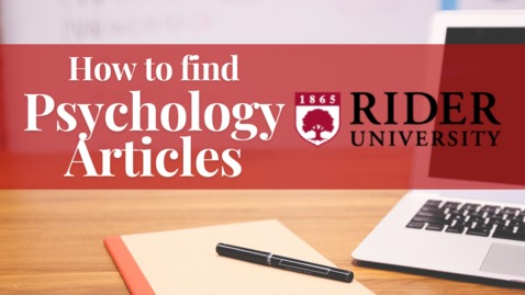 Thumbnail for entry How to Find Psychology Articles