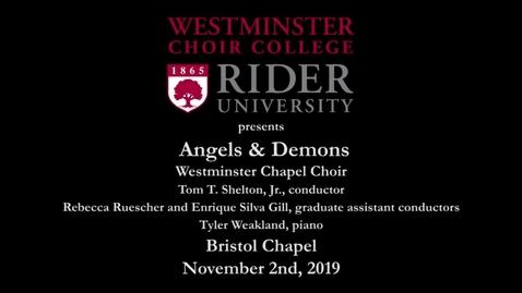 Thumbnail for entry 2019-11-02 Chapel Choir - Angels & Demons