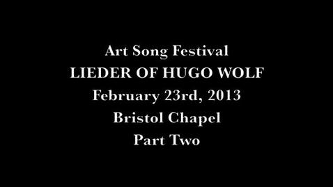 Thumbnail for entry 2013 Art Song Festival Night Two Part 2 V1