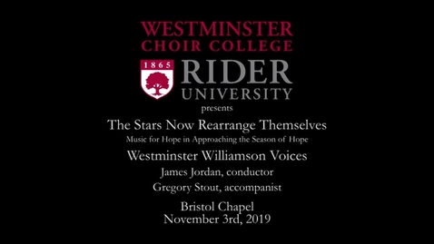 Thumbnail for entry 2019-11-03 Williamson Voices - The Stars Now Rearrange Themselves