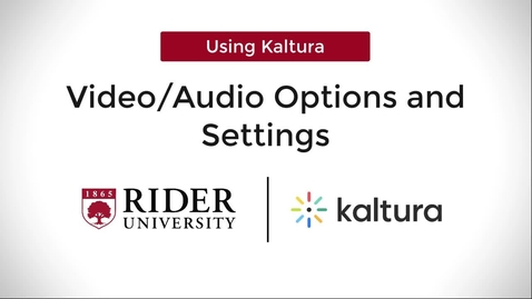 Thumbnail for entry Kaltura Capture: Audio & Video Settings
