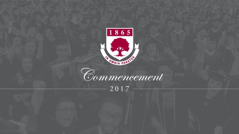 Thumbnail for entry Rider University 152nd Graduate & College of Continuing Studies Commencement Ceremony