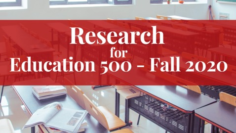 Thumbnail for entry Research for Education 500