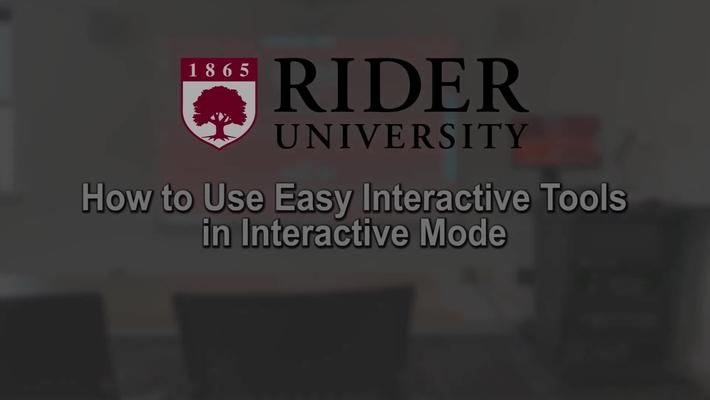 Epson Interactive Projector - Easy Interactive Tools - Interactive Mode
