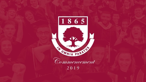 Thumbnail for entry Rider University 154th Undergraduate Commencement 2019