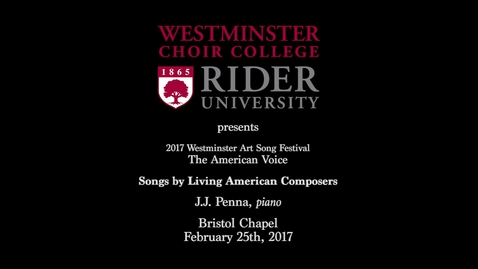 Thumbnail for entry 2017-02-25 Art Song Festival