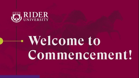 Thumbnail for entry Rider University Commencement 2020 - Undergraduate Norm Brodsky College of Business