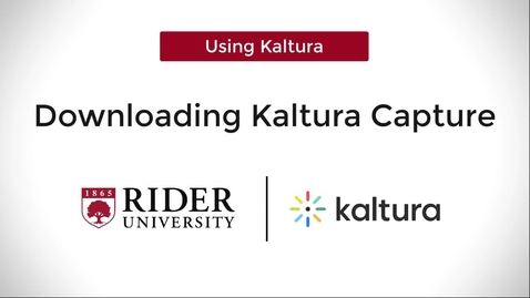 Thumbnail for entry Kaltura Capture: How-To Download & Install