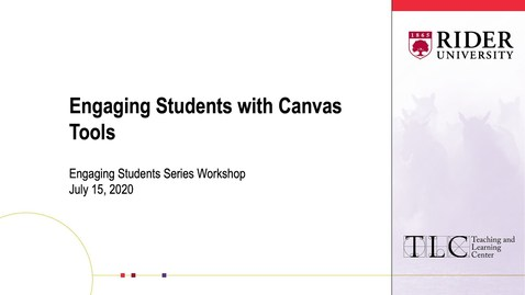 Thumbnail for entry Engaging Students with Canvas Tools
