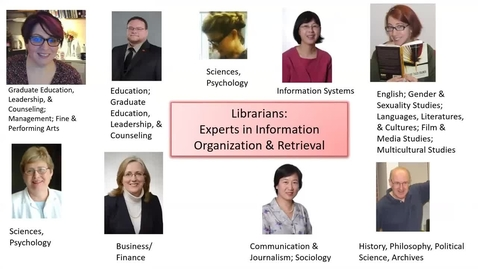 Thumbnail for entry Librarians: Experts in Information Organization & Retrieval