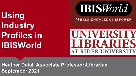 Thumbnail for entry Finding Industry Profiles in IBISWorld