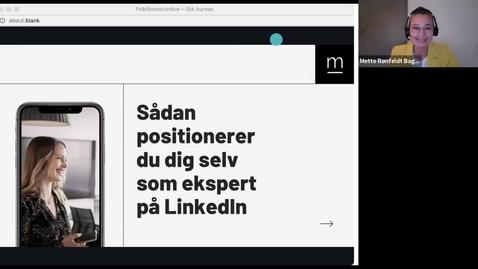 Thumbnail for entry Sådan positionerer du dig selv som ekspert på LindkedIn