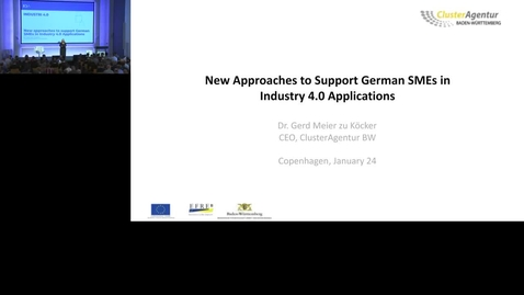 Thumbnail for entry New approaches to support german SMEs in Industry 4.0 applications, Gerd Meier, , ClusterAgentur Baden-Württemberg