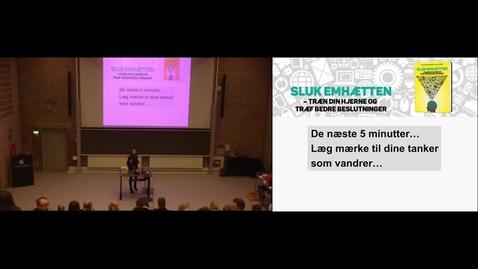 Thumbnail for entry Sluk Emhætten 2 -  Få større arbejdsglæde, mentalt overskud og blive bedre til at træffe de vigtige beslutninger