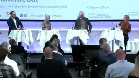 Thumbnail for entry Vejen mod 2030 – Et Danmark uden energispild - Debat Klimapartnerskaberne