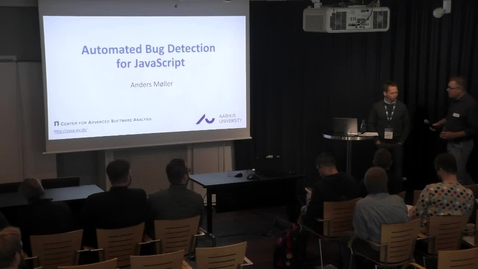 Thumbnail for entry Tools: Automated Bug Detection for JavaScript by Anders Møller