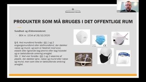 Thumbnail for entry Luftbåren Coronavirus Værnemidler til beskyttelse mod Covid-19 Finn Lund Sørensen, Sikkerhedsstyrel